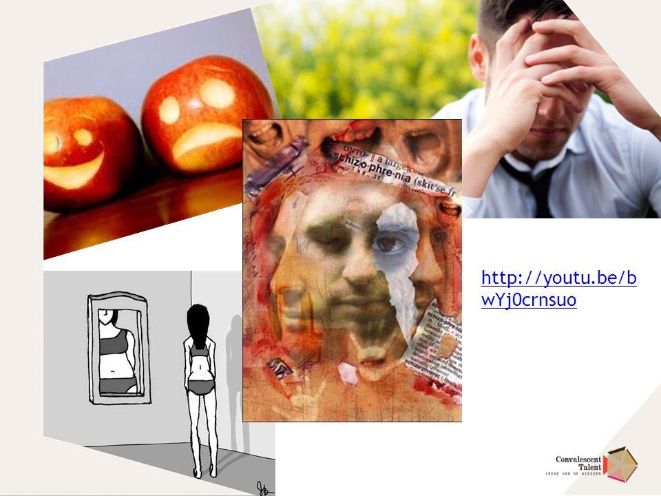 http://youtu.be/bwYj0crnsuo Relatie tussen psychische aandoeningen en lichamelijke beweging: depressie en angst.