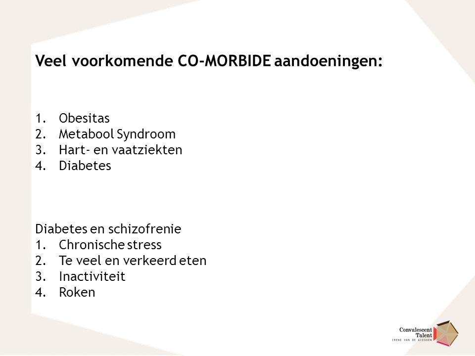 Veel voorkomende CO-MORBIDE aandoeningen: