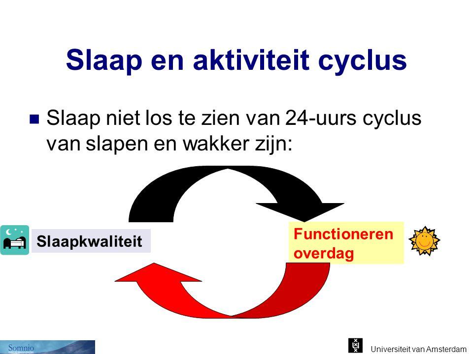 Slaap en aktiviteit cyclus