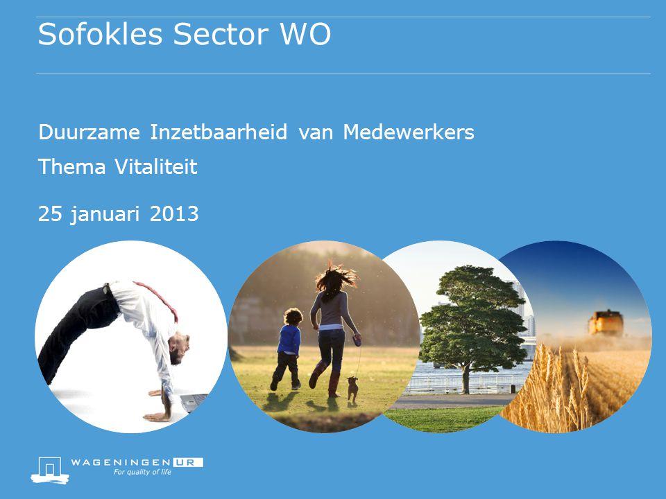 Sofokles Sector WO Duurzame Inzetbaarheid van Medewerkers