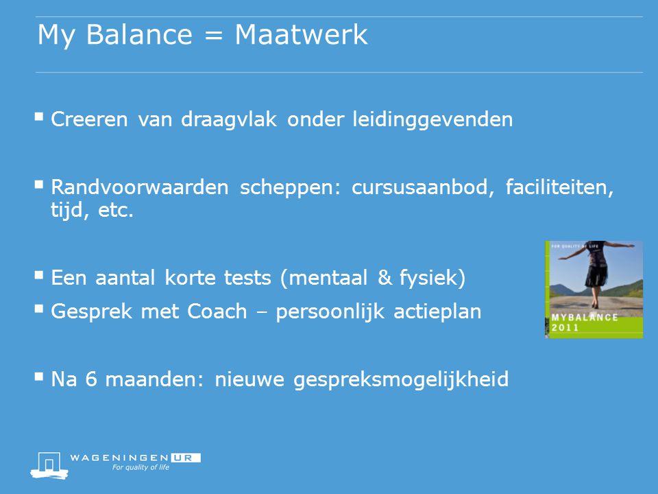 My Balance = Maatwerk Creeren van draagvlak onder leidinggevenden