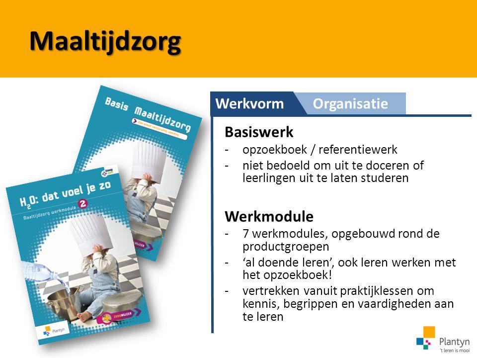Maaltijdzorg Basiswerk Werkmodule Werkvorm Organisatie