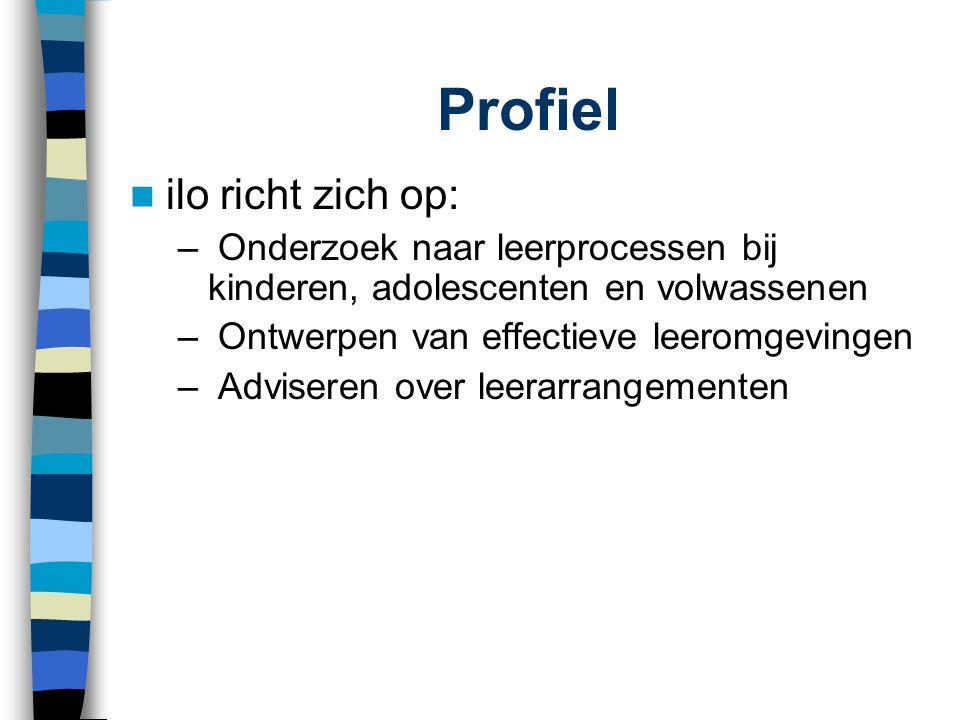Profiel ilo richt zich op: