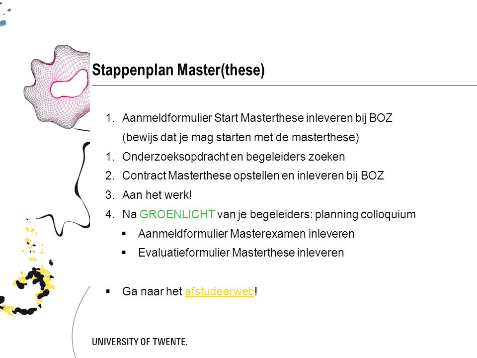 Stappenplan Master(these)