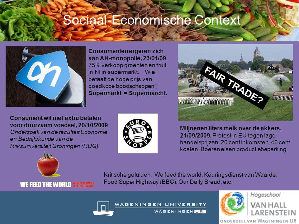 Sociaal-Economische Context