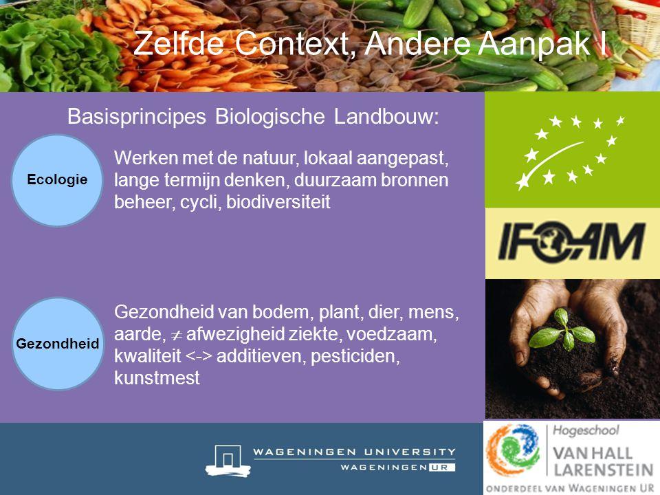 Basisprincipes Biologische Landbouw: