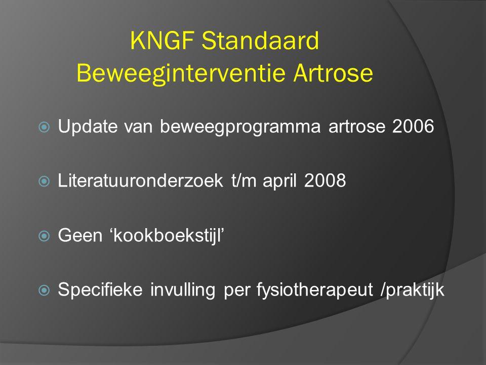 KNGF Standaard Beweeginterventie Artrose
