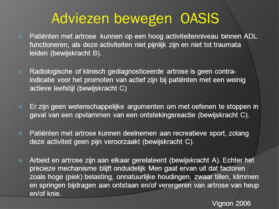Adviezen bewegen OASIS