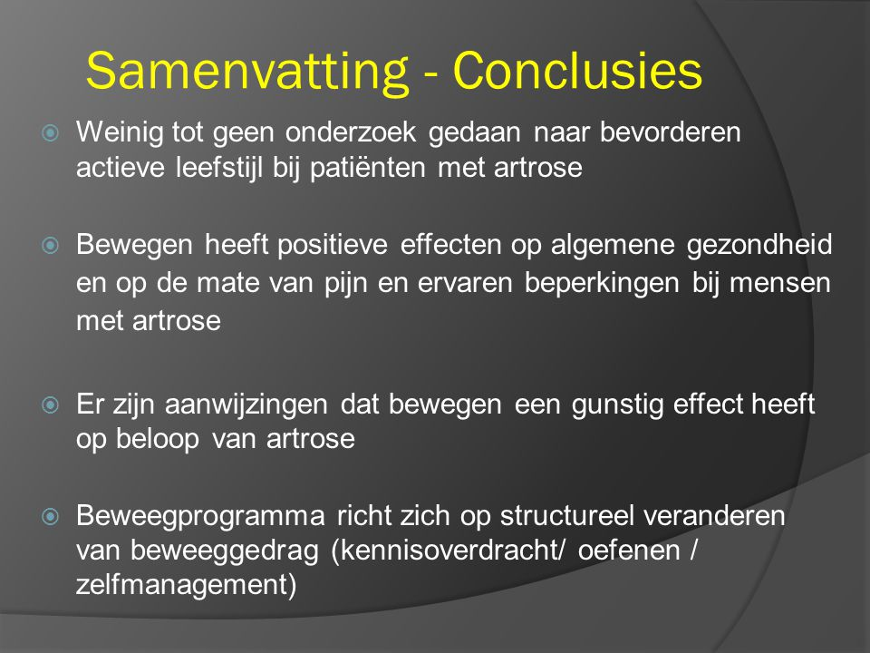 Samenvatting - Conclusies