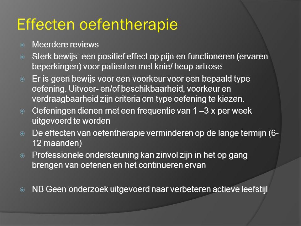Effecten oefentherapie