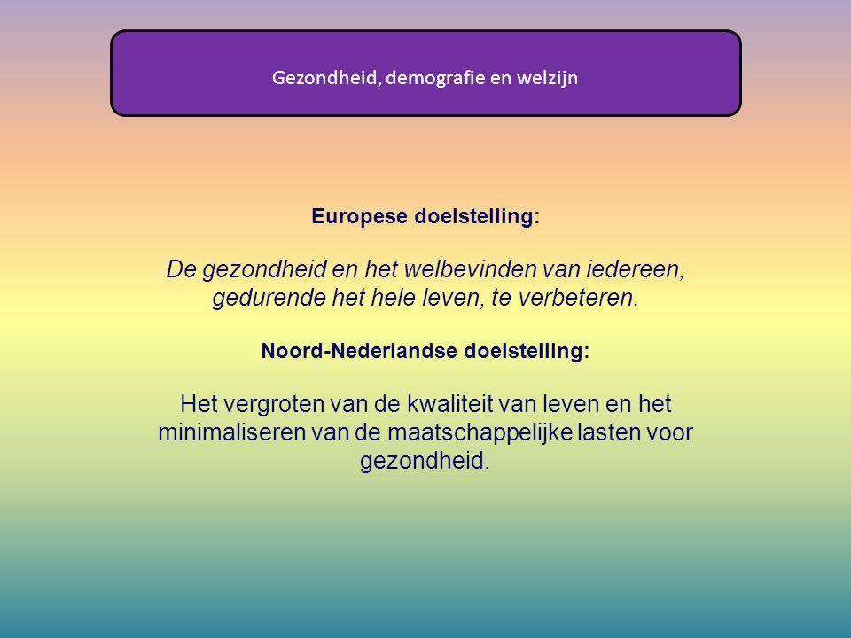 Europese doelstelling: Noord-Nederlandse doelstelling: