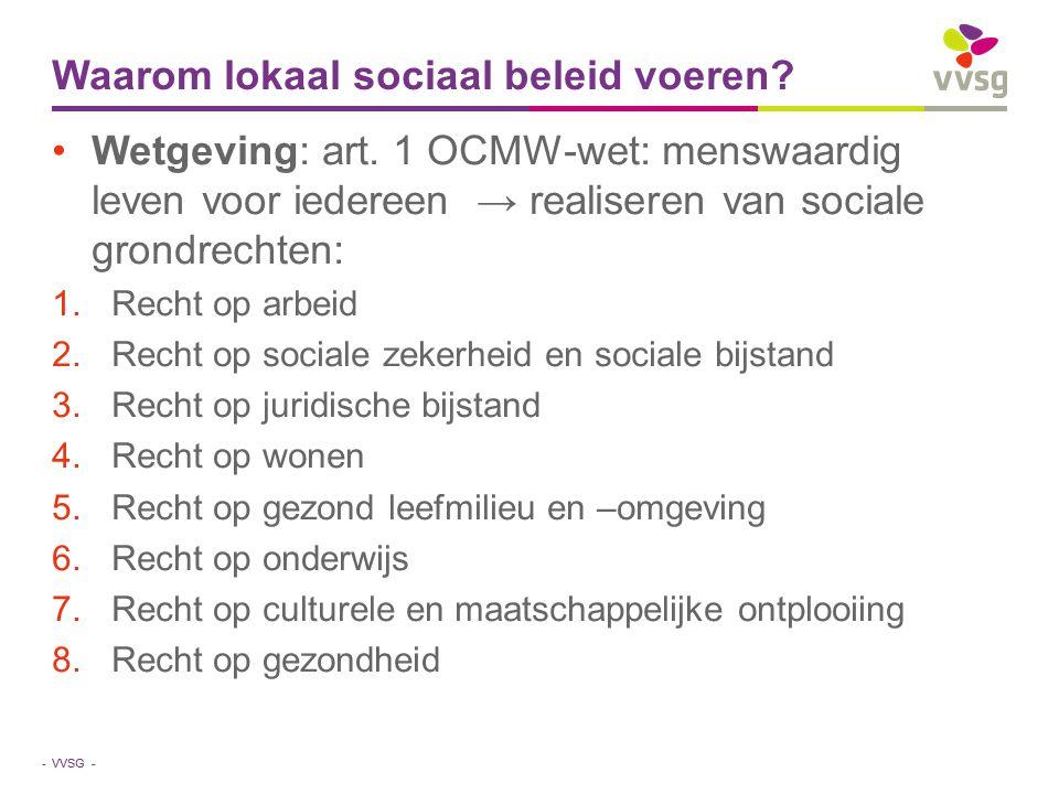 Waarom lokaal sociaal beleid voeren