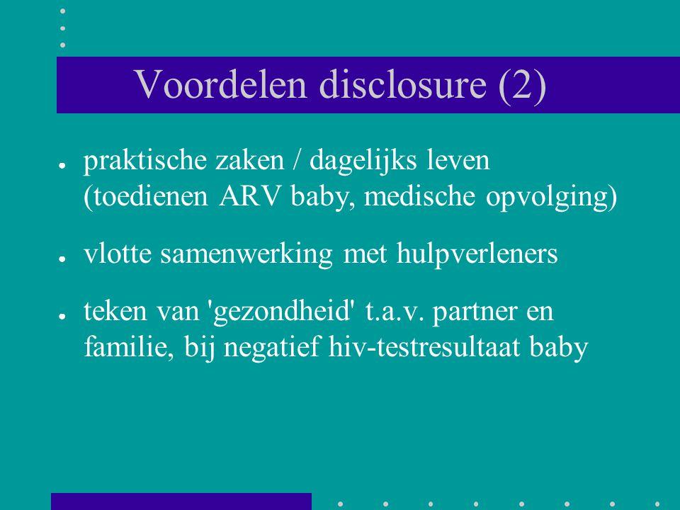 Voordelen disclosure (2)
