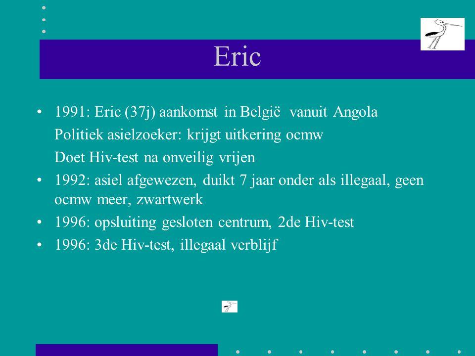Eric 1991: Eric (37j) aankomst in België vanuit Angola