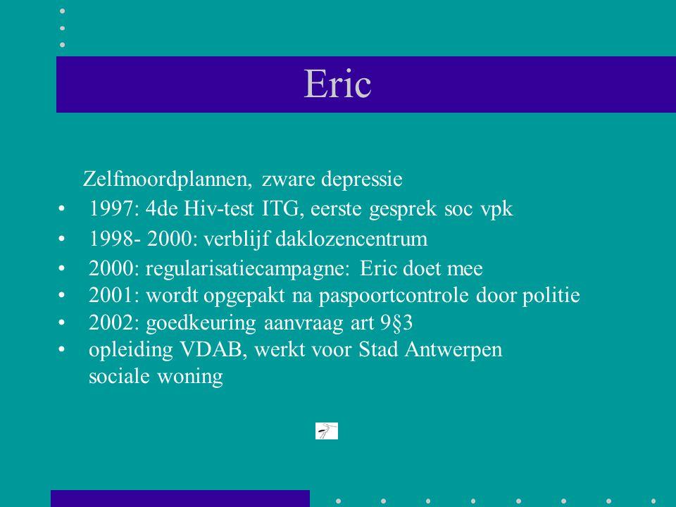 Eric Zelfmoordplannen, zware depressie