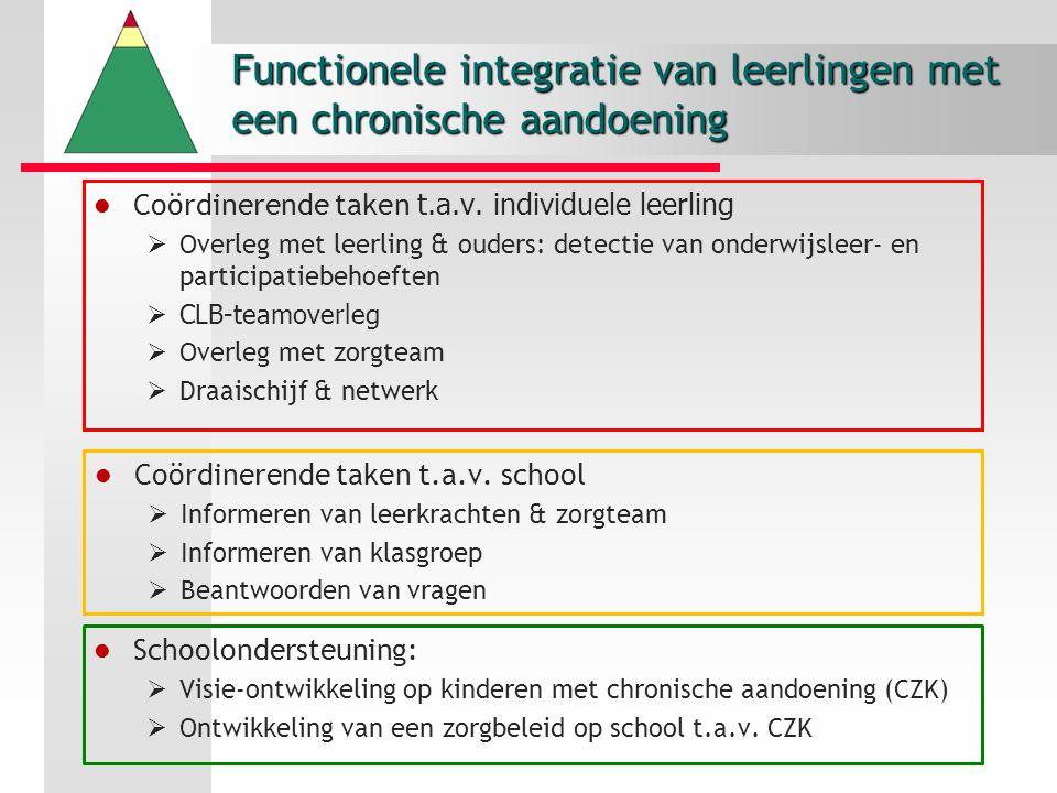 Functionele integratie van leerlingen met een chronische aandoening