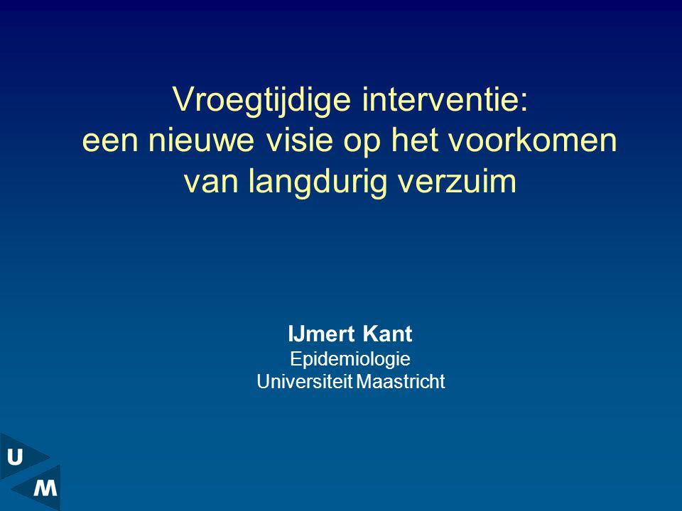 IJmert Kant Epidemiologie Universiteit Maastricht