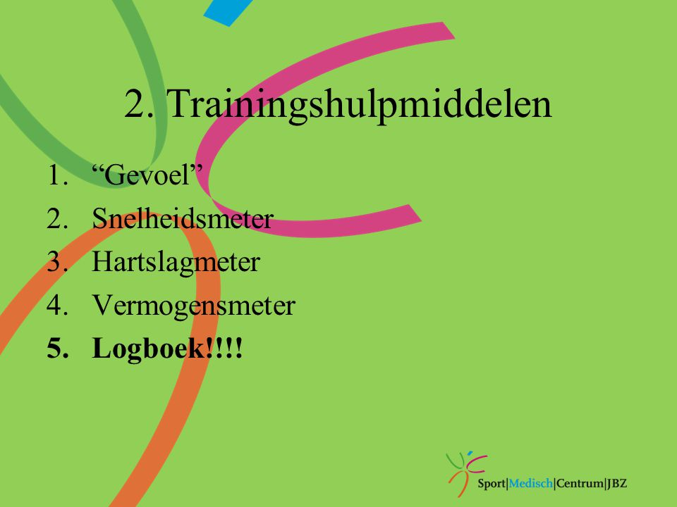 2. Trainingshulpmiddelen