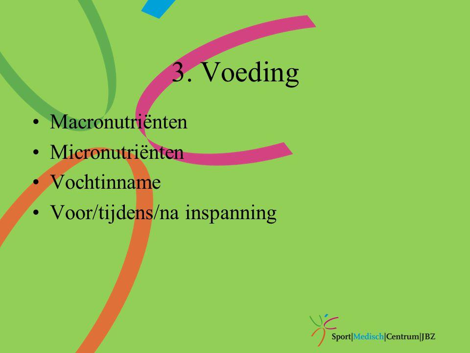 3. Voeding Macronutriënten Micronutriënten Vochtinname