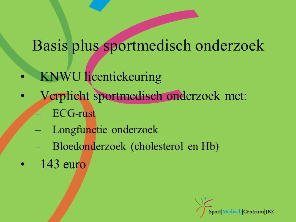 Basis plus sportmedisch onderzoek
