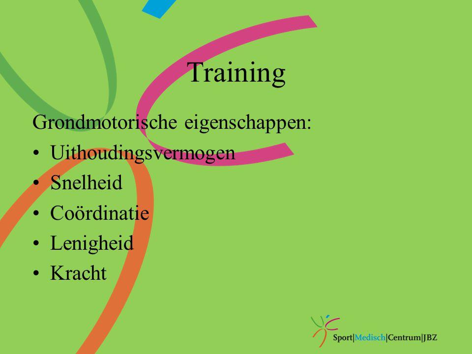 Training Grondmotorische eigenschappen: Uithoudingsvermogen Snelheid