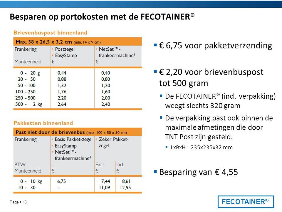 Besparen op portokosten met de FECOTAINER®