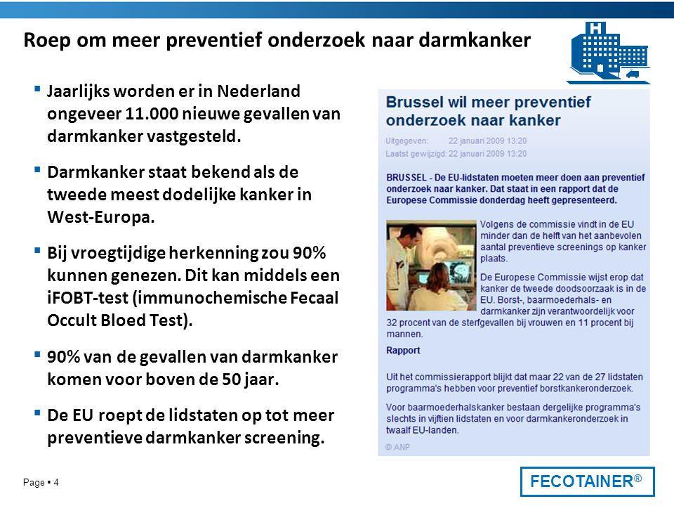 Roep om meer preventief onderzoek naar darmkanker