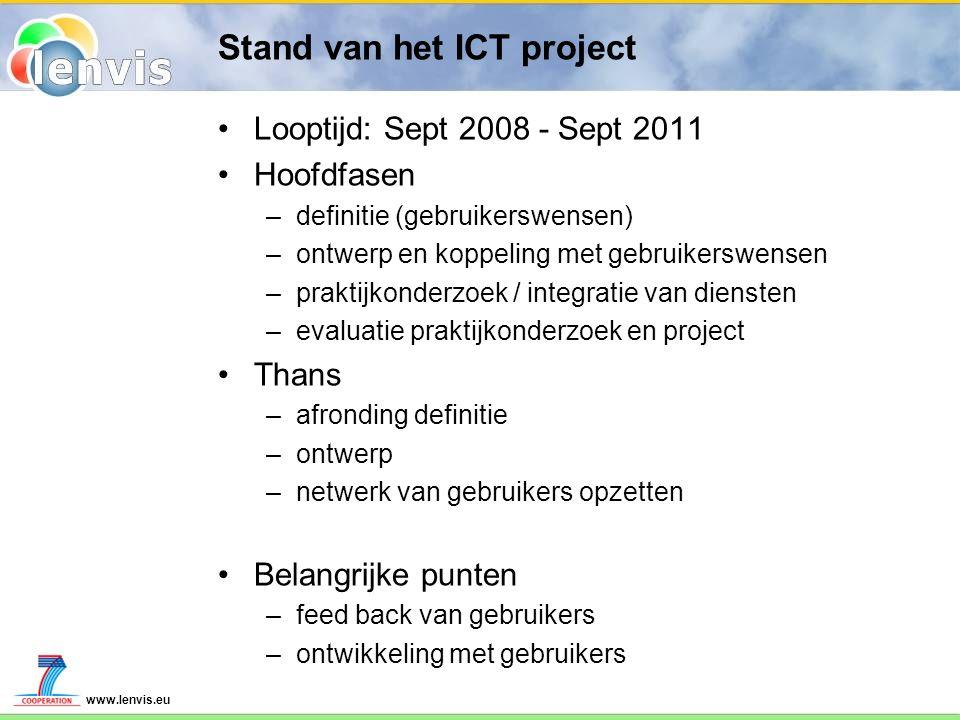 Stand van het ICT project