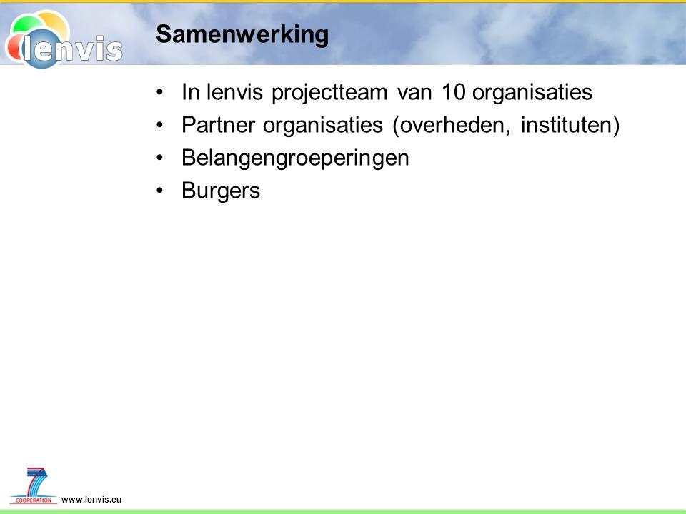Samenwerking In lenvis projectteam van 10 organisaties