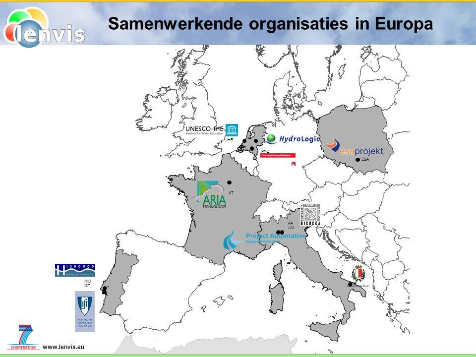 Samenwerkende organisaties in Europa