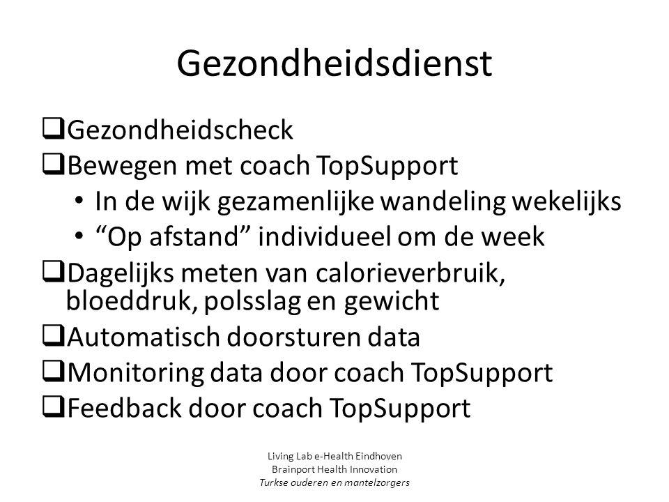 Gezondheidsdienst Gezondheidscheck Bewegen met coach TopSupport