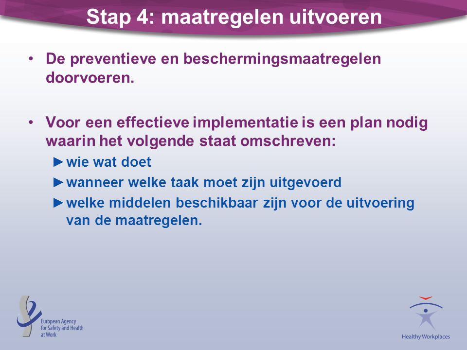 Stap 4: maatregelen uitvoeren