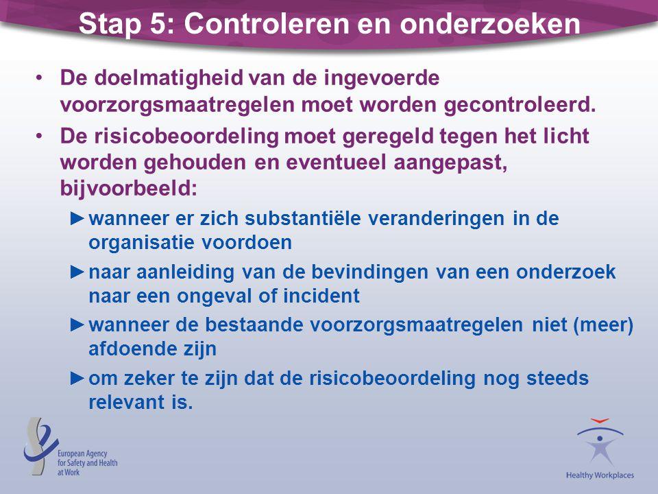 Stap 5: Controleren en onderzoeken