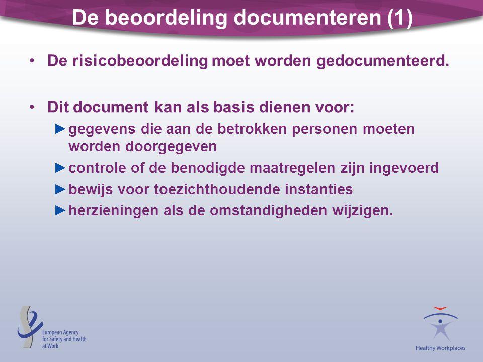 De beoordeling documenteren (1)