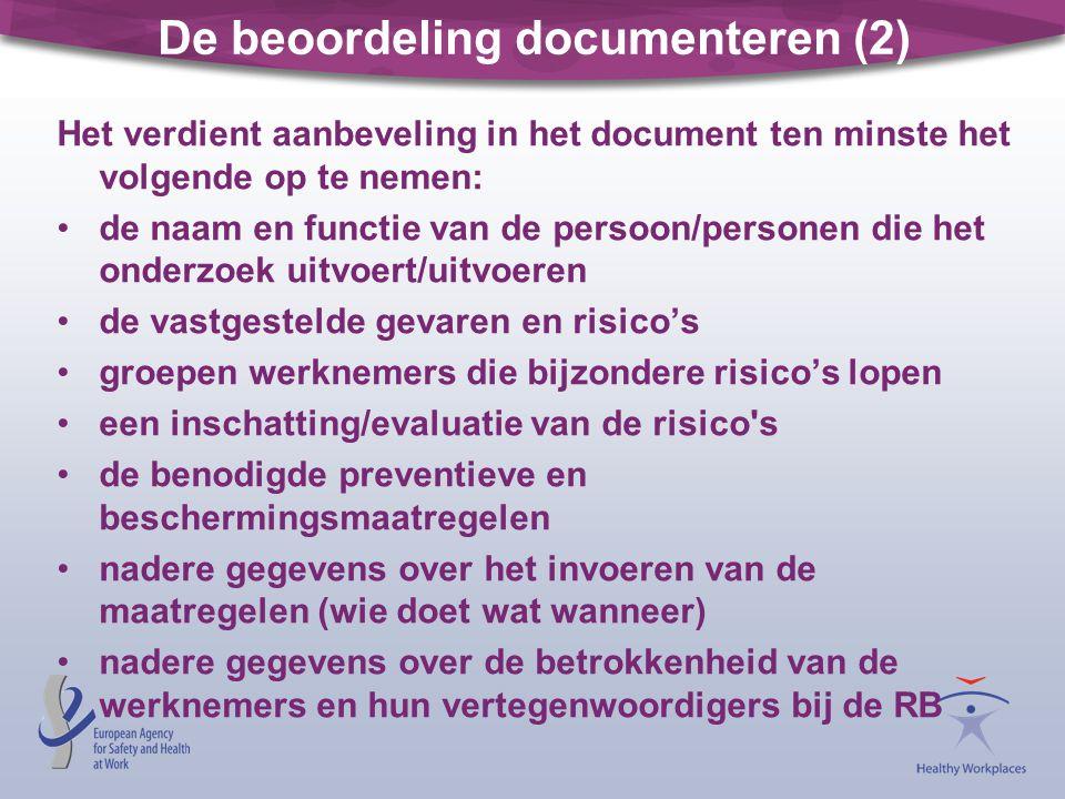 De beoordeling documenteren (2)