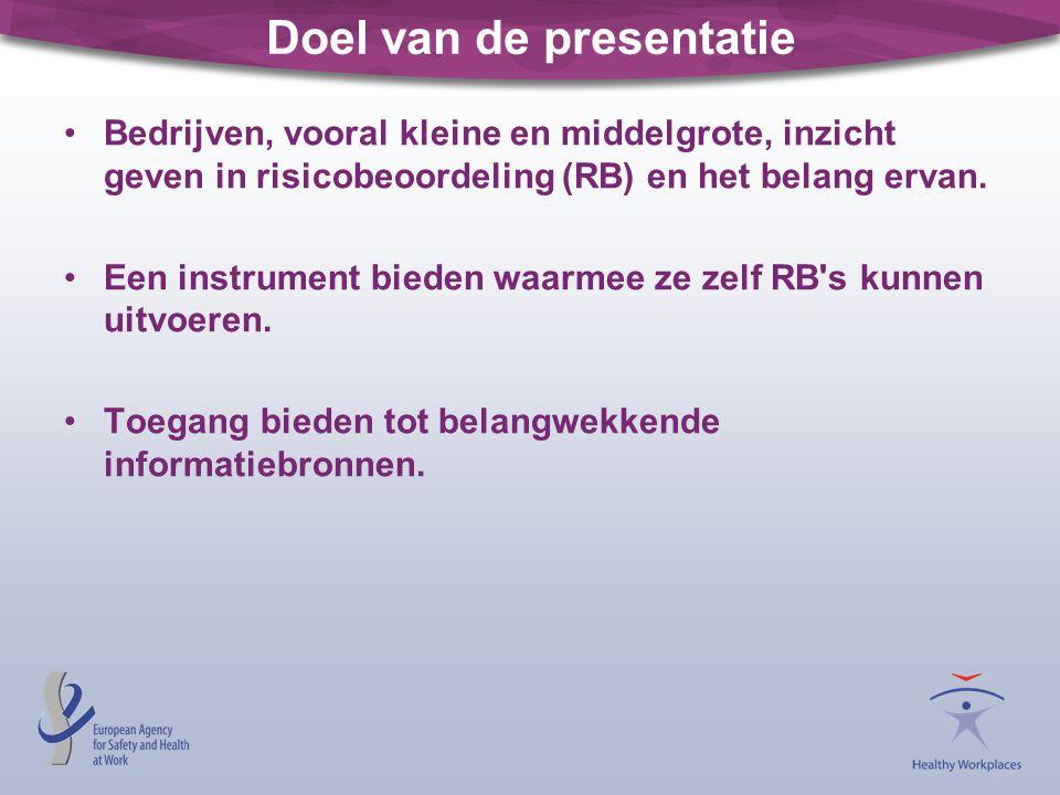 Doel van de presentatie