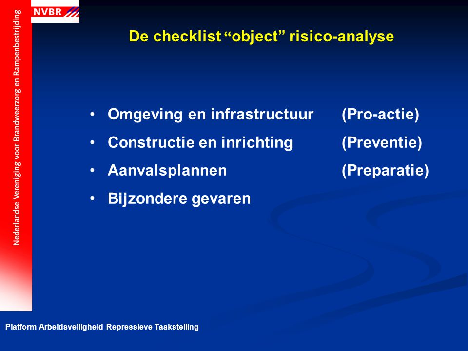 De checklist object risico-analyse