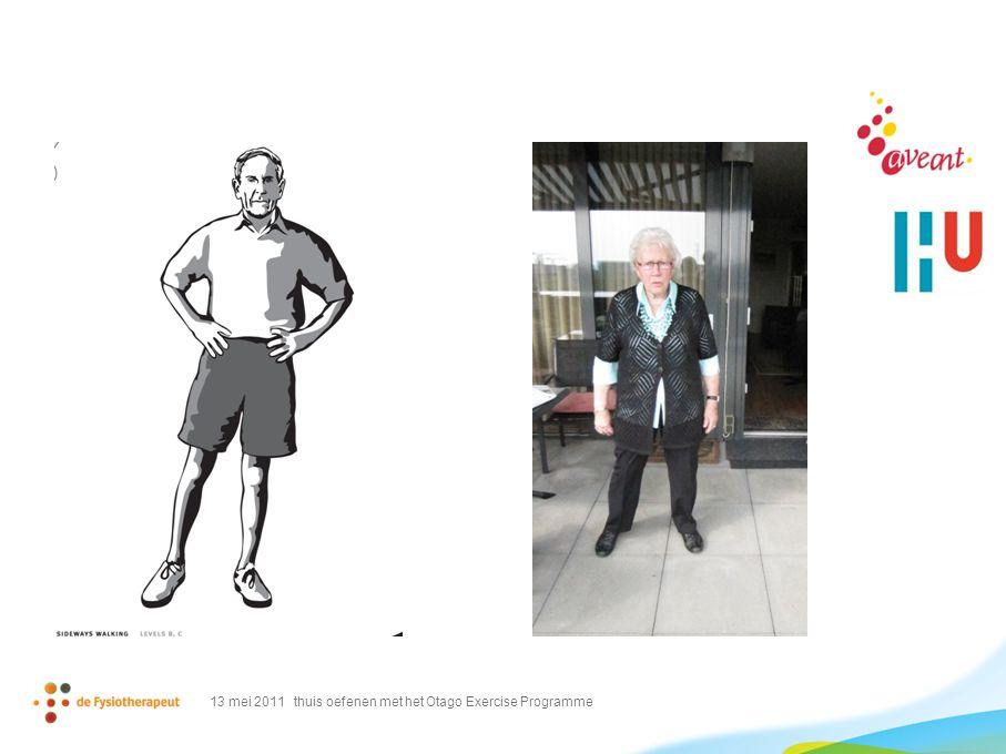 13 mei 2011 thuis oefenen met het Otago Exercise Programme