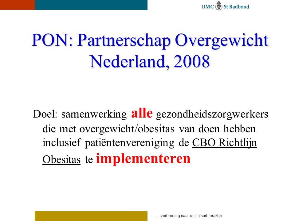 PON: Partnerschap Overgewicht Nederland, 2008
