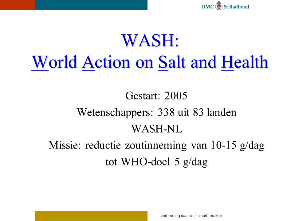 WASH: World Action on Salt and Health