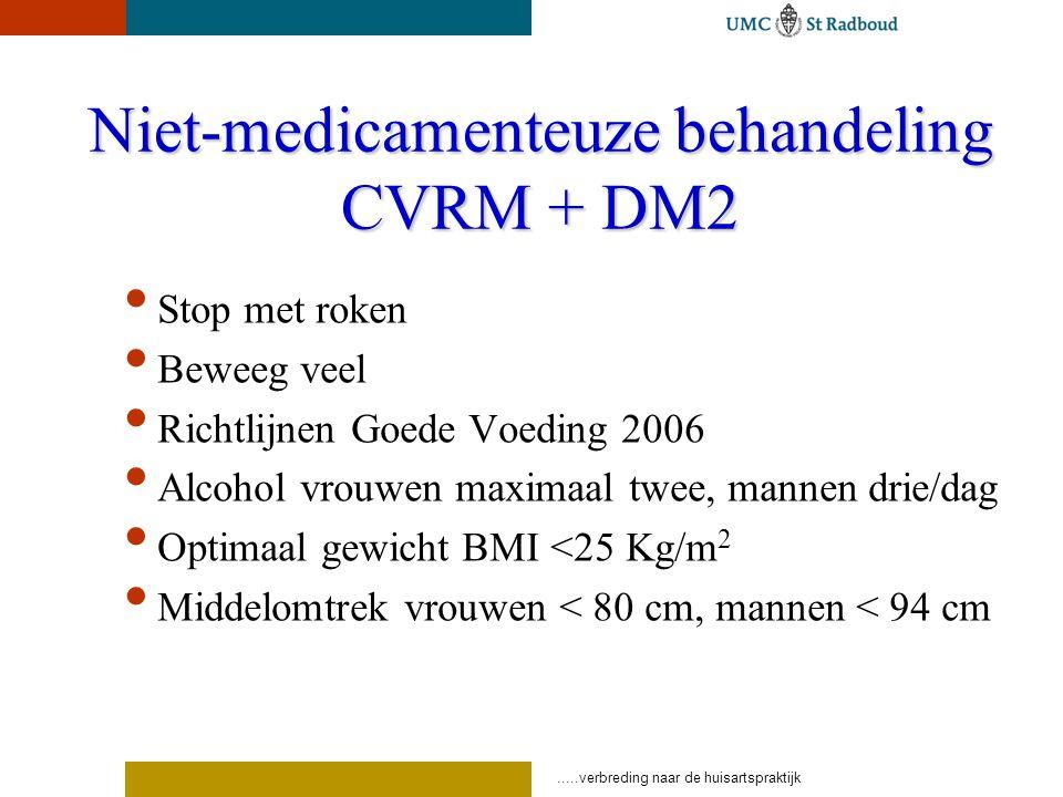 Niet-medicamenteuze behandeling CVRM + DM2