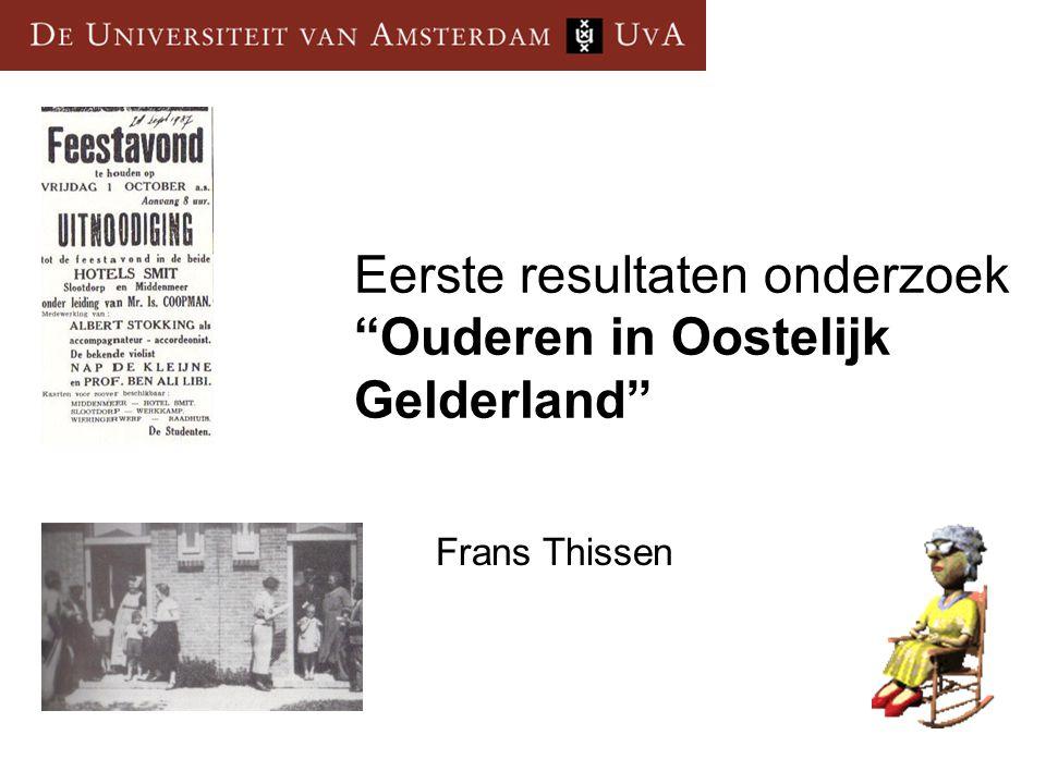 Eerste resultaten onderzoek Ouderen in Oostelijk Gelderland