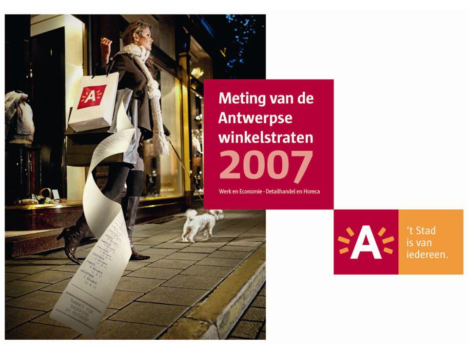 Welkom iedereen, ik presenteer voor jullie vandaag/vanavond de resultaten van de Meting van de Antwerpse winkelstraten 2007.