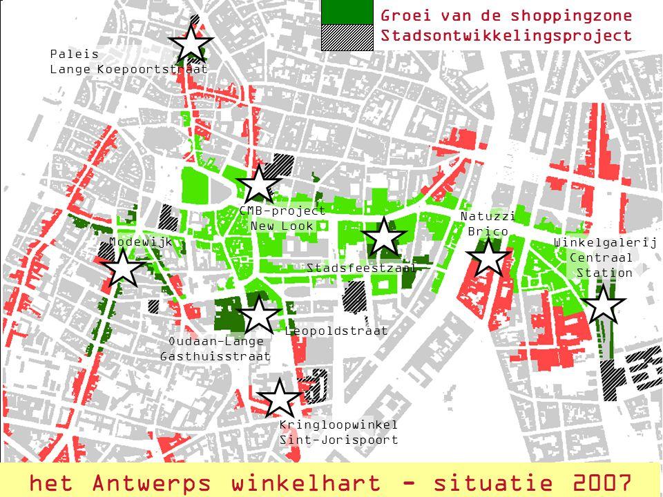 het Antwerps winkelhart - situatie 2007