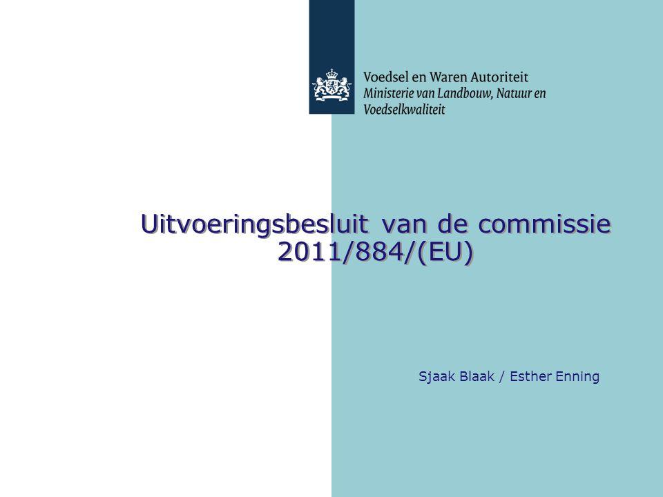 Uitvoeringsbesluit van de commissie 2011/884/(EU)