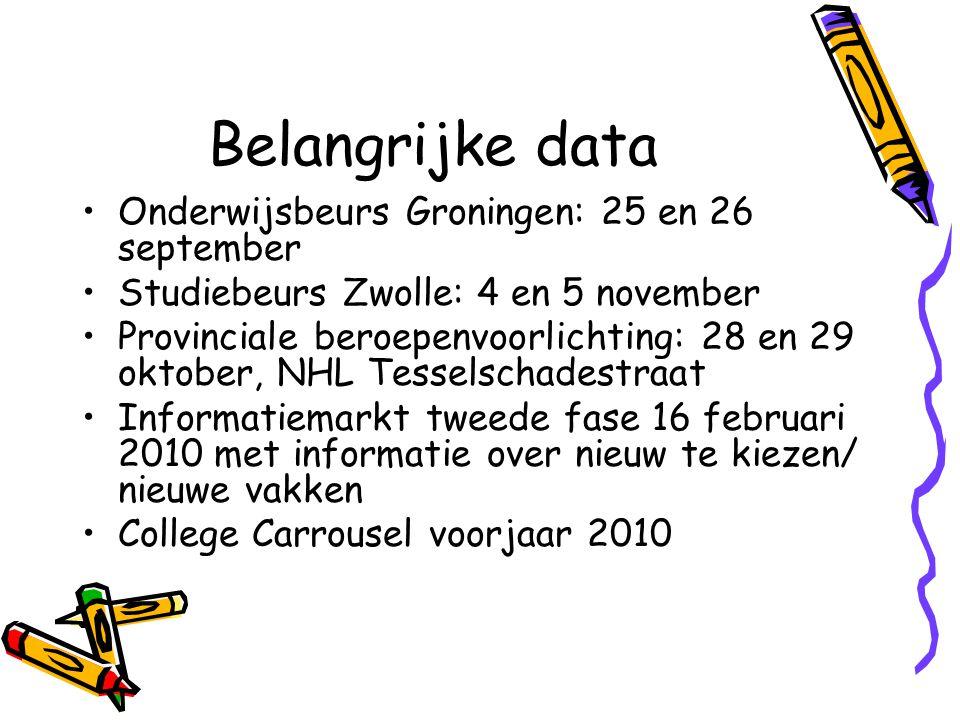 Belangrijke data Onderwijsbeurs Groningen: 25 en 26 september