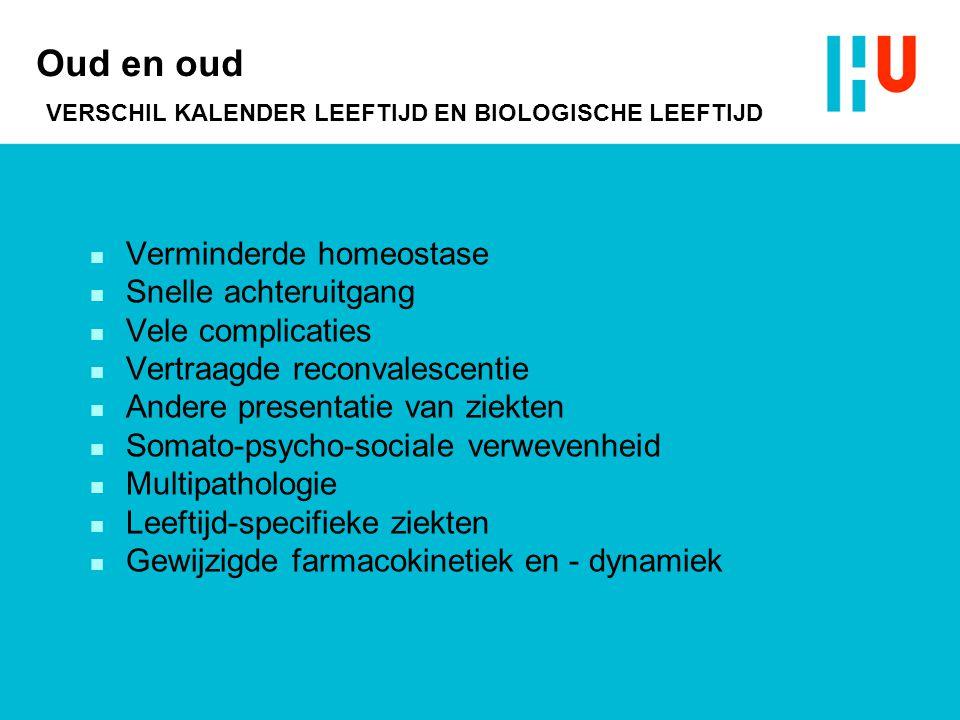 Oud en oud VERSCHIL KALENDER LEEFTIJD EN BIOLOGISCHE LEEFTIJD