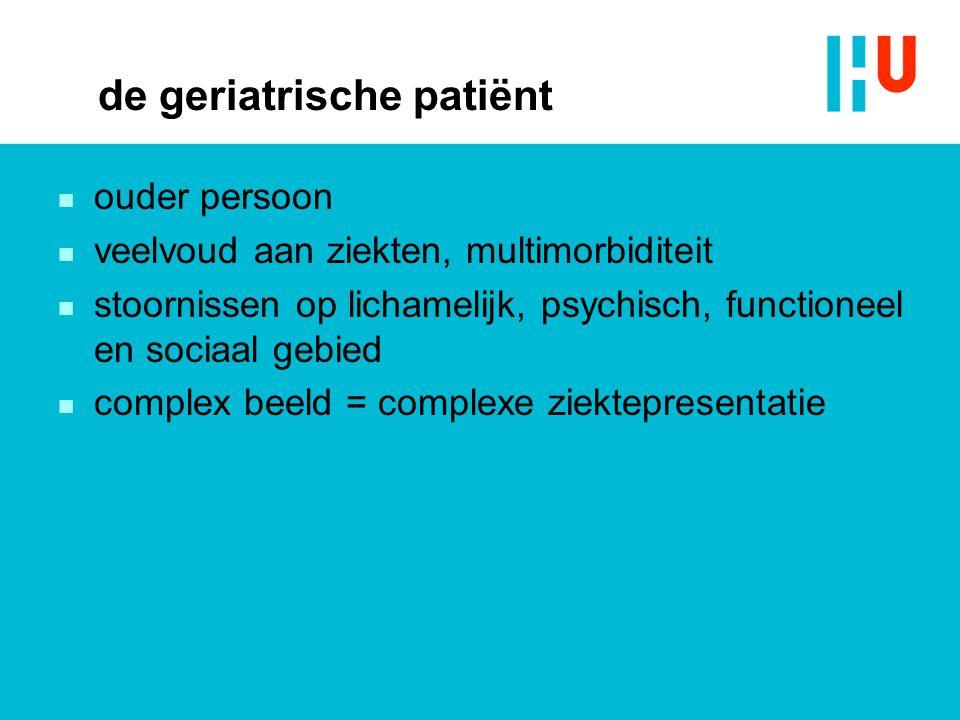 de geriatrische patiënt