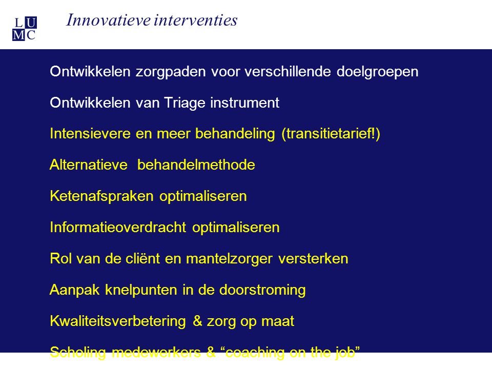 Innovatieve interventies