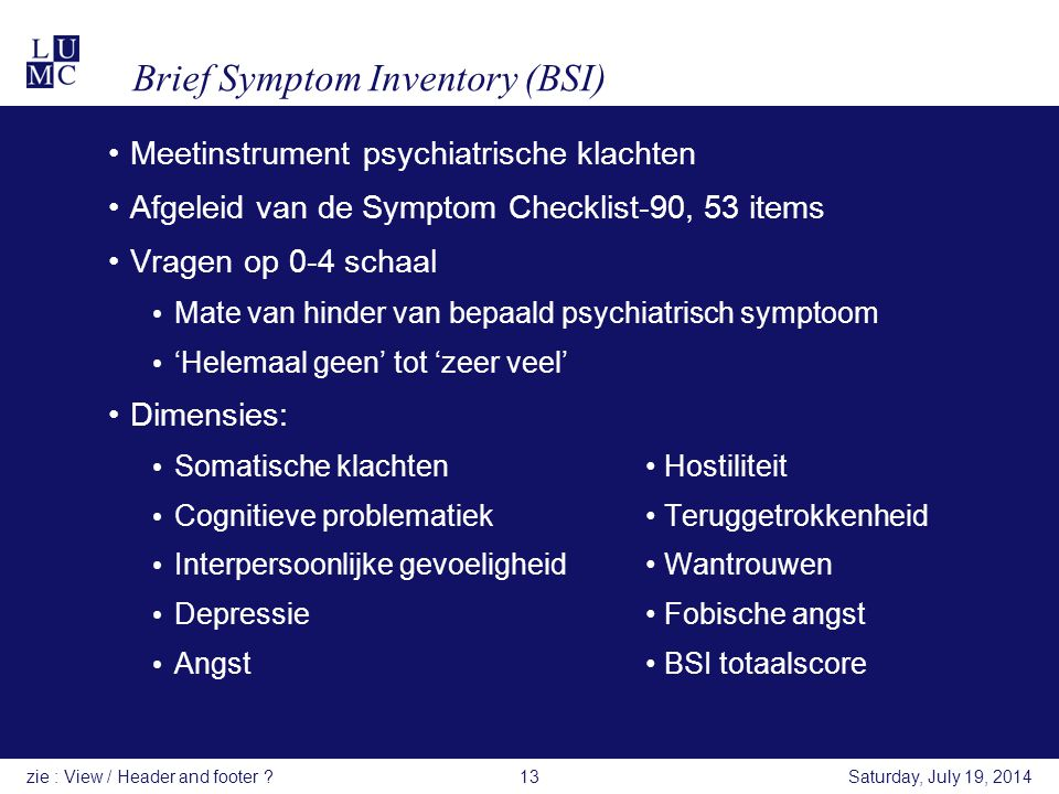 Brief Symptom Inventory (BSI)